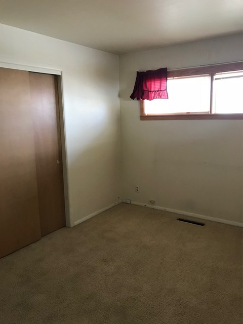 Master Bedroom has double closet