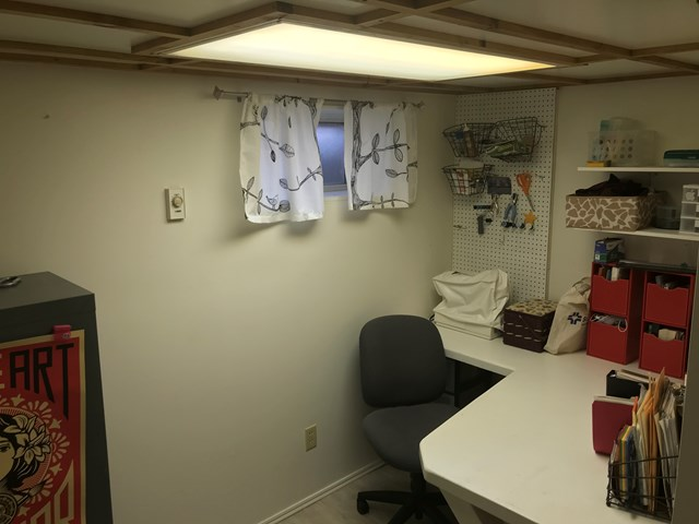 Sewing Room & Sitting Area in Basement
